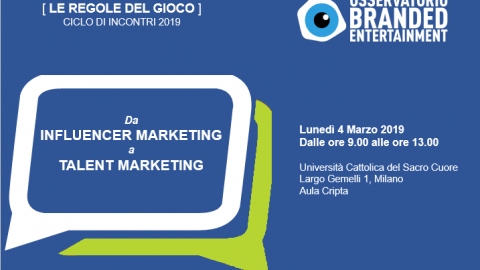 Dall'influencer marketing al talent marketing